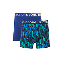 Buy Bjorn Borg Super Shade Trunks, Pack of 2, Blue Online at johnlewis.com