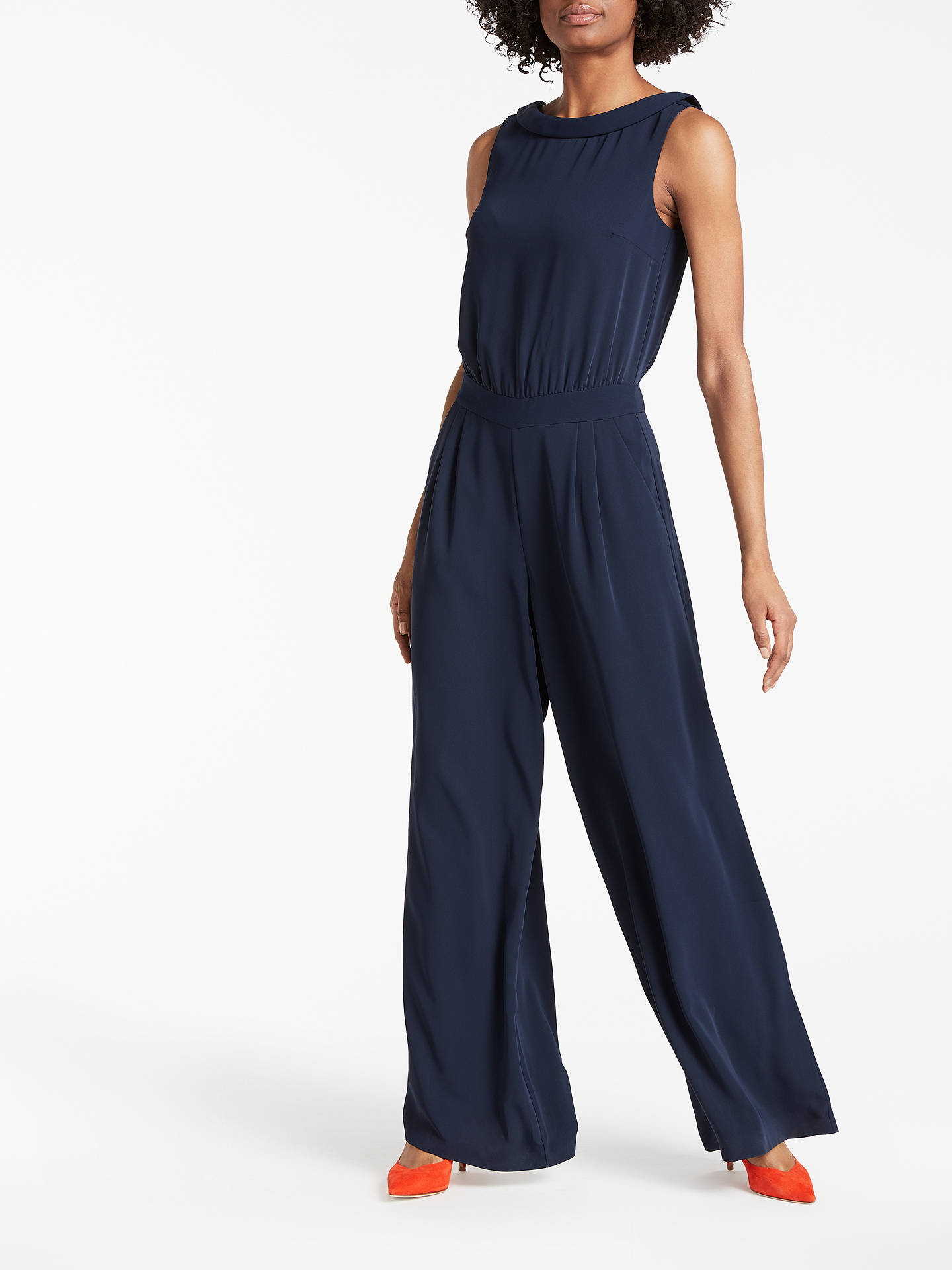 Boden Clarissa Jumpsuit Navy At John Lewis Partners