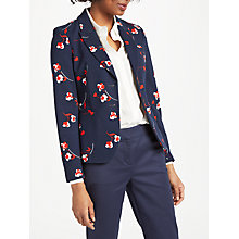 Buy Boden Elizabeth Ponte Blazer, Navy/Wildflower Scattered Online at johnlewis.com