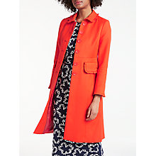 Buy Boden Lena Frill Coat, Red Pop Online at johnlewis.com