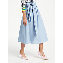 Buy Boden Kiera Skirt, Chambray Online at johnlewis.com