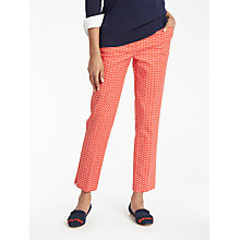 Buy Boden Richmond 7/8 Trousers, Red Pop Online at johnlewis.com