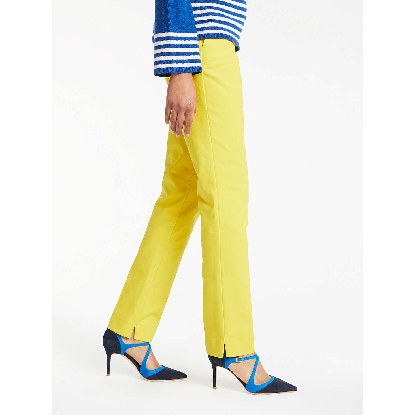 BuyBoden Richmond Trousers , Mimosa Yellow, 18 Online at johnlewis.com