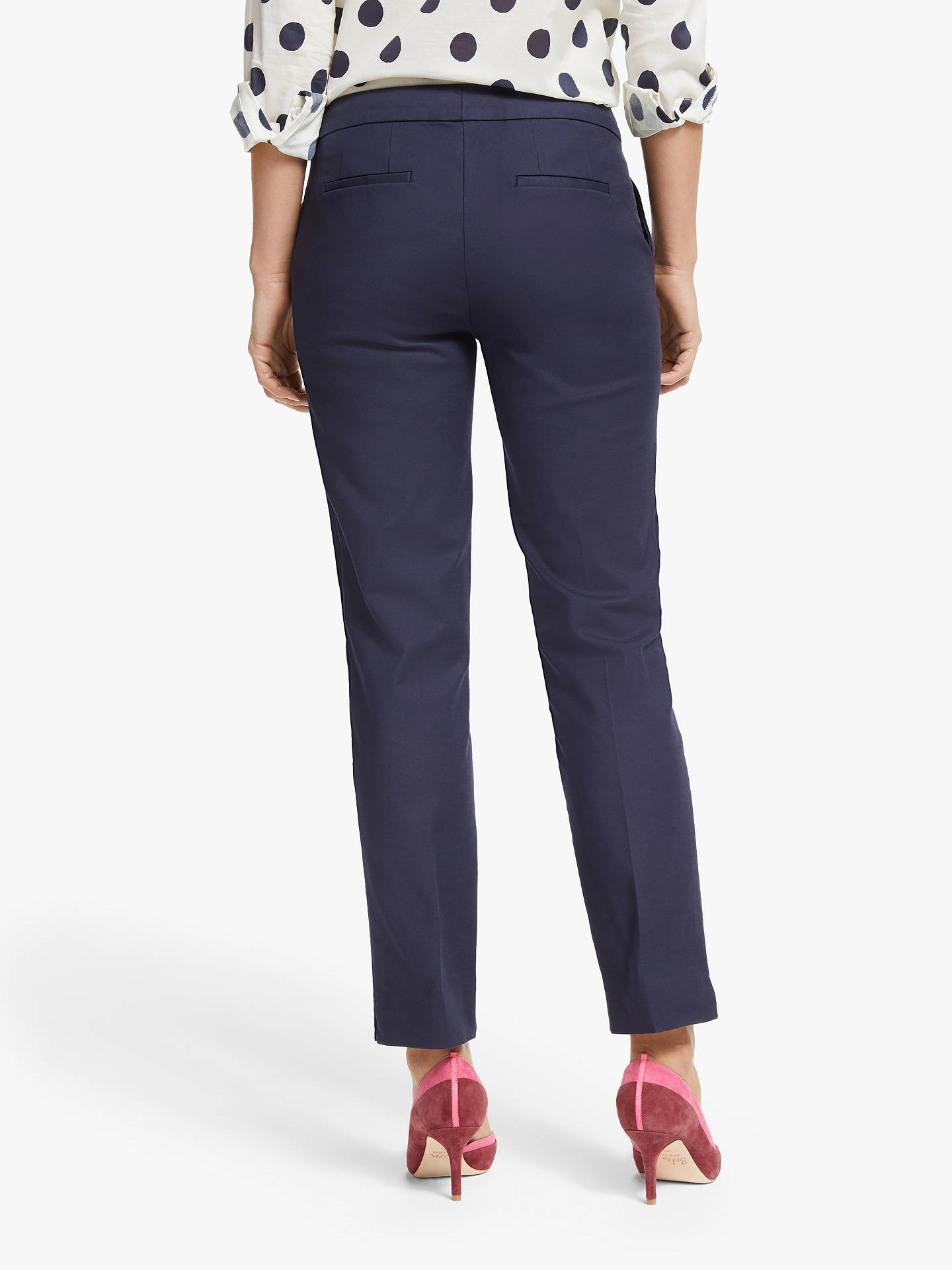 BuyBoden Richmond 7/8 Trousers, Navy, 8 Online at johnlewis.com