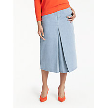 Buy Boden Mira Denim Skirt, Ticking Stripe Online at johnlewis.com