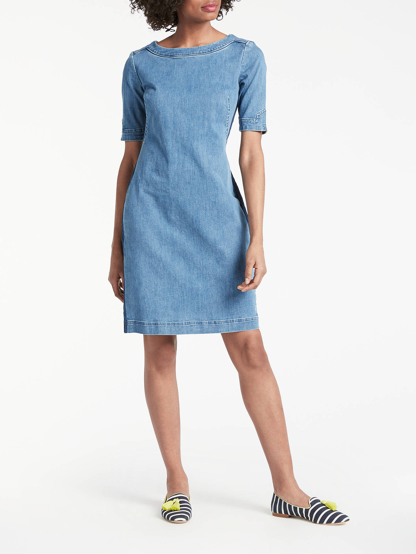 BuyBoden Rhea Denim Dress, Mid Vintage, 14 Online at johnlewis.com