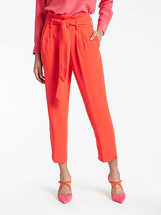 Buy Boden Melina Paperbag Trousers, Red Pop, 8 Online at johnlewis.com
