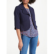 Buy Boden Sylvia Curvy Jacket, Navy Online at johnlewis.com