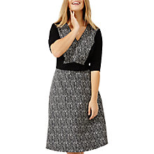 Buy Studio 8 Albany Jacquard Dress, Black/Multi Online at johnlewis.com