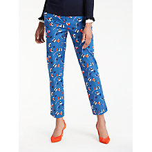 Buy Boden Richmond 7/8 Trousers, Riviera Blue Online at johnlewis.com