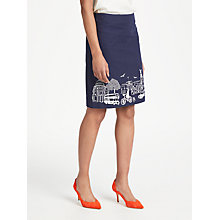 Buy Boden Tilda Embroidered Skirt, Navy Online at johnlewis.com