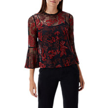 Buy Coast Emma Lace Top, Red/Black Online at johnlewis.com