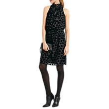 Buy hush Star Devore Greta Dress, Black Online at johnlewis.com