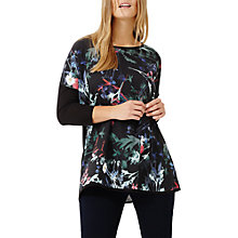 Buy Studio 8 Saffy Knit Top, Black/Multi Online at johnlewis.com