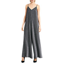Buy hush Sparkle Glitter Jumpsuit, Black/Silver Online at johnlewis.com