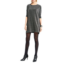 Buy hush Sparkle Glitter Easy Dress, Black/Silver Online at johnlewis.com