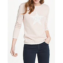 Buy Oui Love Star Print Cotton Jumper, Rose Online at johnlewis.com
