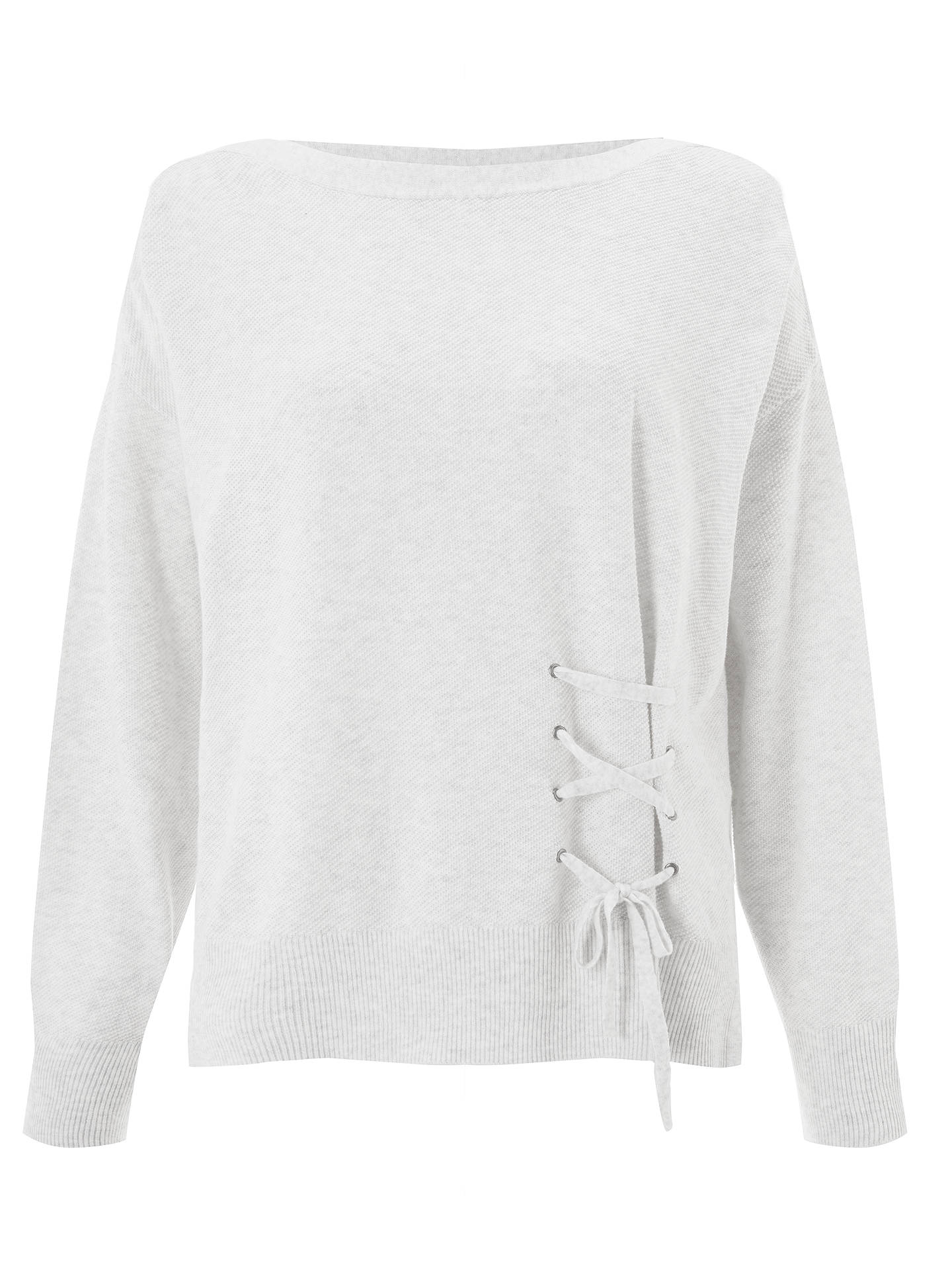 BuyOui Lace Tie Front Cotton Jumper, Off White, 8 Online at johnlewis.com