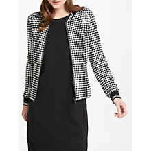 Buy Oui Gingham Jacket, Black Online at johnlewis.com