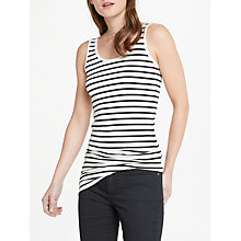 Buy Oui Stripe Vest, Navy Online at johnlewis.com