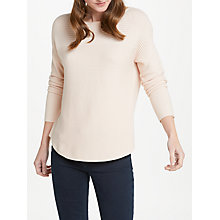 Buy Oui Silk Knit Jumper, Pink Online at johnlewis.com