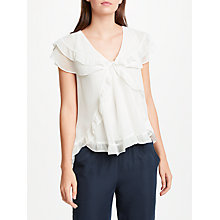 Buy Max Studio Frill Detail Blouse, White Online at johnlewis.com