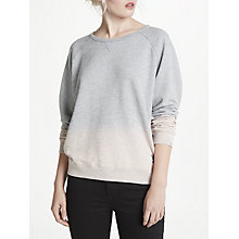 Buy Maison Scotch Dip Dye Sweatshirt, Grey Online at johnlewis.com