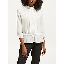 Buy Maison Scotch Victoriana Blouse, Off White Online at johnlewis.com