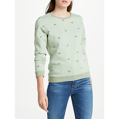 Maison Scotch Classic Artwork Sweatshirt, Light Green