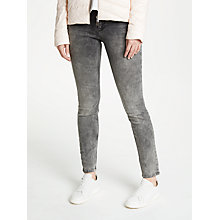 Buy Oui Studded Baxter Jeans, Grey Online at johnlewis.com