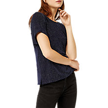 Buy Warehouse Crystal Knot Back Top, Navy Online at johnlewis.com