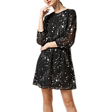 Buy Warehouse Sparkle Star Dress, Black Pattern Online at johnlewis.com