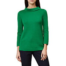 Buy Hobbs Round Neck Anastasia Sweatshirt, Apple Green Online at johnlewis.com