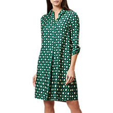 Buy Hobbs Geometric Ellie Dress, Apple Green Online at johnlewis.com