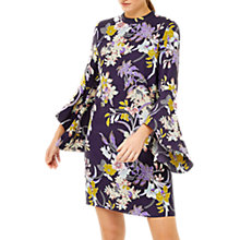 Buy Warehouse Orchid Flared Cuff Dress, Purple Pattern Online at johnlewis.com