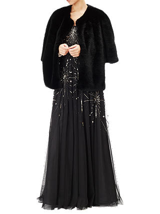 Buy Adrianna Papell Faux Fur Wrap, Black, S Online at johnlewis.com