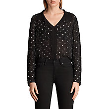 Buy AllSaints Shalien Star Shirt, Black Online at johnlewis.com
