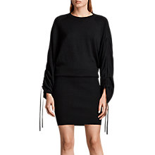 Buy AllSaints Ero Knitted Wool Rich Dress, Black Online at johnlewis.com