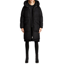 Buy AllSaints Ester Parka Puffer Coat, Black Online at johnlewis.com