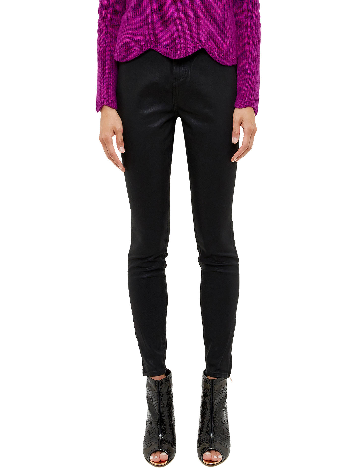 c2b5cdcda Buy Ted Baker Aissats Waxed Ankle Zip Skinny Jeans