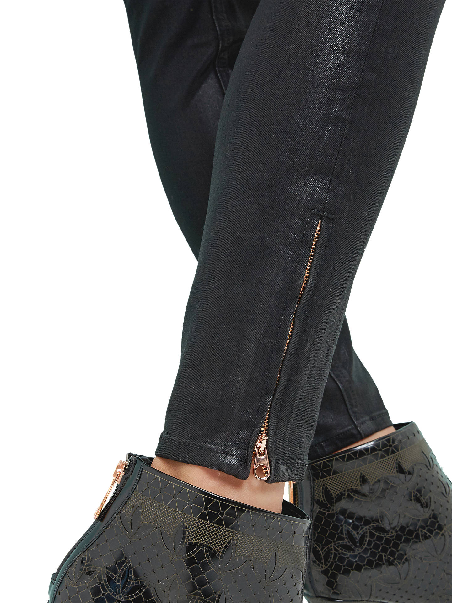 b20811d738dbbb ... Buy Ted Baker Aissats Waxed Ankle Zip Skinny Jeans