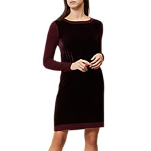 Buy Hobbs Benita Wool Dress, Bordeaux Online at johnlewis.com