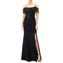 Buy Adrianna Papell Beaded Fringe Dress, Black Online at johnlewis.com