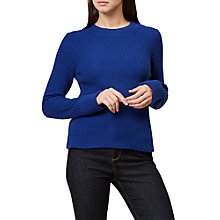 Buy Hobbs Charlie Ribbed Jumper, Cobalt Blue Online at johnlewis.com