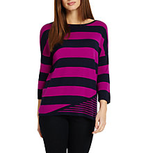 Buy Phase Eight Devonna Mix Stripe Knit Jumper, Navy/Magenta Online at johnlewis.com