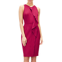 Buy Adrianna Papell Plus Size Sleeveless Ruffle Sheath Dress, Geranium Online at johnlewis.com