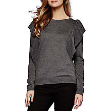 Buy Yumi Ruffle Jumper, Dark Grey Online at johnlewis.com
