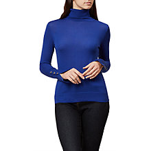 Buy Hobbs Larissa Roll Neck Jumper, Cobalt Blue Online at johnlewis.com