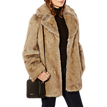 Buy Karen Millen Faux Fur Coat, Neutral Online at johnlewis.com