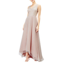 Buy Adrianna Papell Sequin Lace Bodice High Low Tulle Dress, Blush Pink Online at johnlewis.com